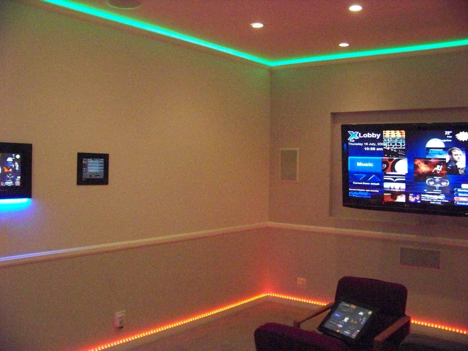 Как сделать освещение в комнате с пульта